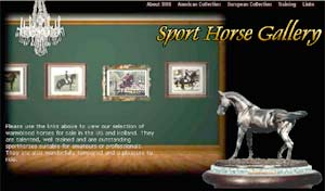Sport Horse Gallery, training and sales of domestic and imported sporthorses